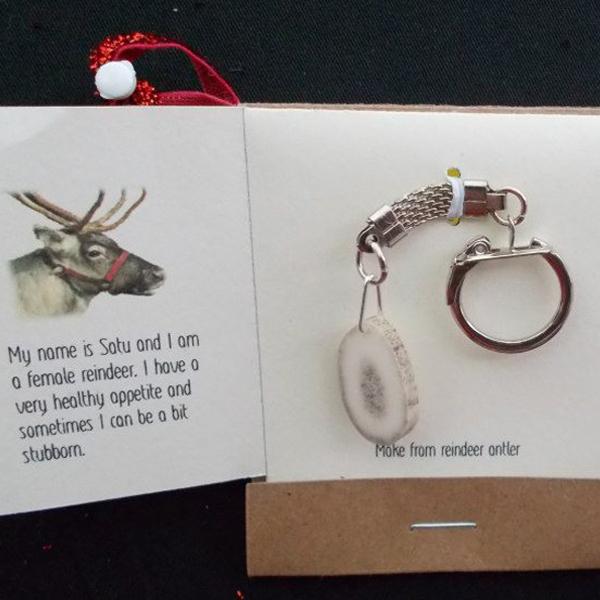 reindeer antler keychain
